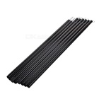 4m Tent Canopy Small Canvas Gazebo Steel Tubes - Black + Silver (Pair)