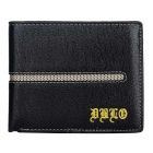 DBLO Men's Fashionable Short PU Leather Wallet Purse w/ Card Slots - Black
