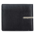DBLO Men's Short PU Leather Wallet Purse w/ Card Slots - Black