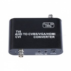 1080P AHD to HDMI / VGA / CVBS HD Video Converter - Black