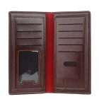 DBLO Men's Ultra-thin Long PU Leather Wallet w/ Card Slots - Coffee