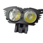 RichFire SF-664 3-Mode 2-LED 1000lm Water Resistant Bike Light - Black