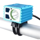 RichFire SF-661 3-Mode Weiß 800lm Bike Cycling Lampe - Blau + Silber