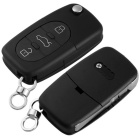 Qook Entry Key Remote Fob Shell Case w/ 3 Button for AUDI A4 - Black