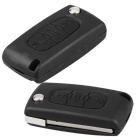 Qook Entry Key Remote Fob Shell Case w / 3 Кнопка для Peugeot - черный