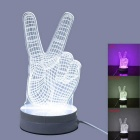 JIawen 3.5W 12-LED Pink Light 3D Illusion Creative Desk Lamp - White