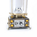 ZHISHUNJIA 10-5630 LED White USB Solar Camping Lamp - Green Bronze