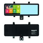 "5"" HD Android Rearview Mirror GPS Navigator Car DVR w/ CA Map - Black"
