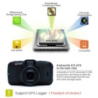 "Junsun 2.7"" LCD FHD CMOS A7 LA7 Car DVR Camera Recorder w/ GPS - Black"