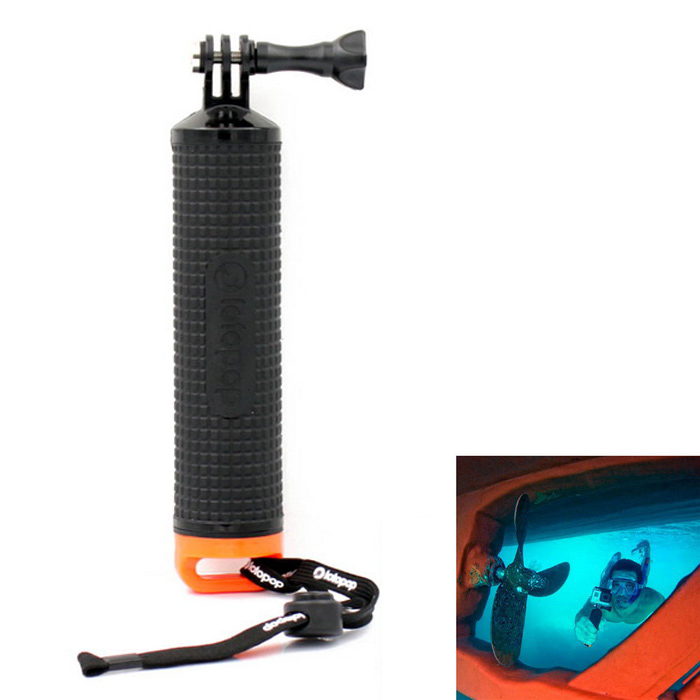 LOTOPOP Floating Grip Monopod for GoPro + More - Black + Orange