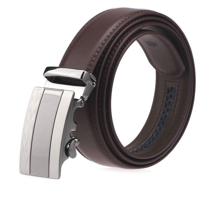 Fanshimite A20 Men's Automatic Buckle Cowhide Belt - Brown (115cm)