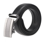 Fanshimite A20 Men's Automatic Buckle Cow Split Leather Belt - Black (115cm)