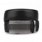 Fanshimite A20 Men's Automatic Buckle Cowhide Belt - Black (115cm)