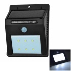 0.55W 6-LED Solar Human Body Sensing Sound Control Garden Lamp - Black