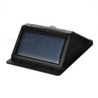 0.55W 6-LED Solar Human Body Sensing Sound Control Сад лампы - черный