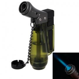 Fashion Soldering Style Straight Torch Flame Lighter - Brown