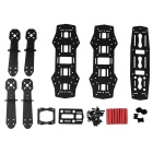 Carbon 250 FPV Quadcopter Frame Kit w/ AV Transmitter Camera - Black