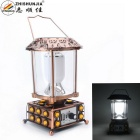 ZHISHUNJIA 10-5630 LED White USB Solar Camping Lamp - Red Bronze