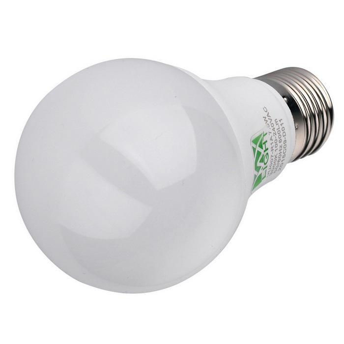YWXLight E27 7.5W 600lm 16-2835 SMD Warm White LED Ball Light - White