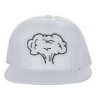Unisex Mushroom Cloud Pattern Baseball Cap - White + Black