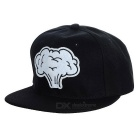 Unisex Mushroom Cloud Pattern Baseball Cap - Black + White