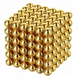 216PCS 3mm NdFeB Magnet Magnetic Beads Educational Toy - Golden
