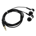 Universal 3.5mm Jack Plug Wired In-Ear Earphones - Black + Silver