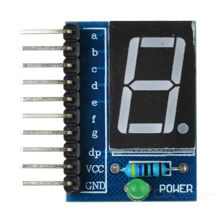 "1-sifret Common Anode 0.56"" Digital Display Modul for Arduino - Blå"