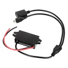 DC 12V 24V to DC 5V 3A Car Power Converter w/ USB + Micro USB - Black