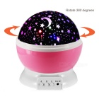 USB 4-Color Starry Sky Rotating Projecting Light - White + Red (4*AAA)