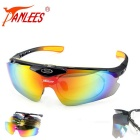 Panlees Flip-open Interchangeable Lens Polarized Yellow Lens Night Vision Cycling Sunglasses