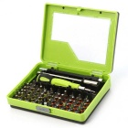 NO8921 53-in-1 Multi-purpose Precision Screwdriver Set for Hobbyist / Electrician - Green + Black