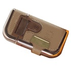 RSCW-V2 Electric Rechargeable Shaver w/ Leather Case - Khaki + Brown