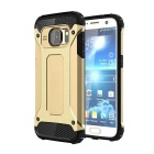 2-in-1 Protective Back Case for Samsung Galaxy S7 - Black + Golden