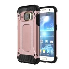 2-in-1 Protective Back Case for Samsung Galaxy S7 - Black + Rose Gold