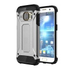 2-in-1 Protective Case for Samsung Galaxy S7 - Black + Silver Grey