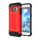 2-in-1 Protective Back Case for Samsung Galaxy S7 - Black + Red