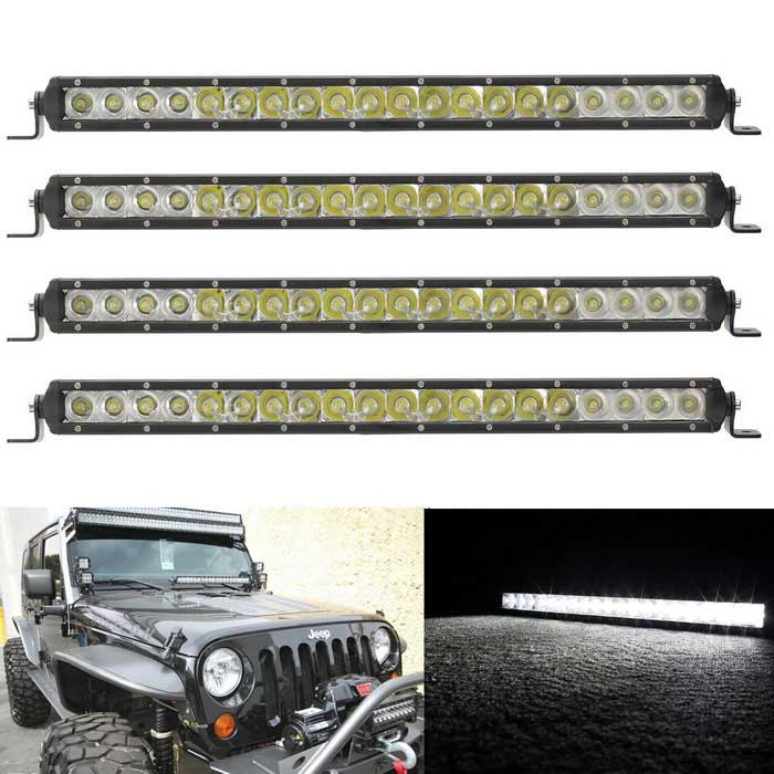 100W combo 20-LED blanc bar worklight - noir (dc 10 ~ 30V / 4PCS)