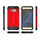 Protective Back Case for Samsung Galaxy S7 Edge - Black + Red