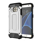 Protective Back Case for Samsung Galaxy S7 Edge - Black + Silver Grey