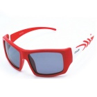 CAALEX KLX-107 Children's Polarized Lenses Sunglasses - Red + Grey
