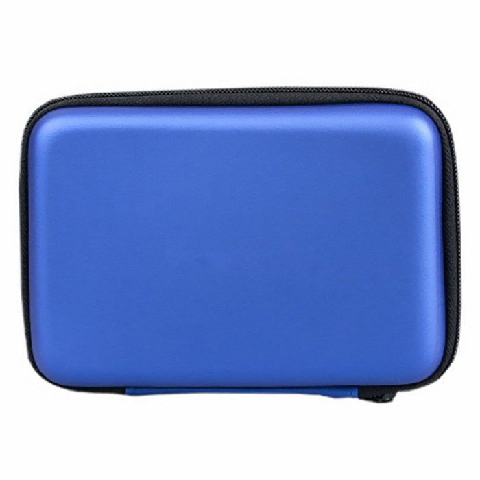 "2.5"" Zippered Storage Bag Case for HDD / Camera / Mobile Phone - Blue"