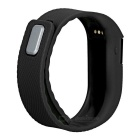Smart Silicone Bluetooth Bracelet w/ Health Monitoring + More - Black