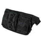 Outdoor Oxford Nylon Tactical Bag Waist Bag for Running - Black (0.5L)