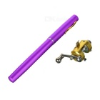 Portable Retractable Mini Metal Fishing Rod w/ Reel - Purple + Golden