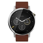 Motorola Moto 360 (2nd Gen.) Men's 46mm Smart Watch - Silver + Coffee