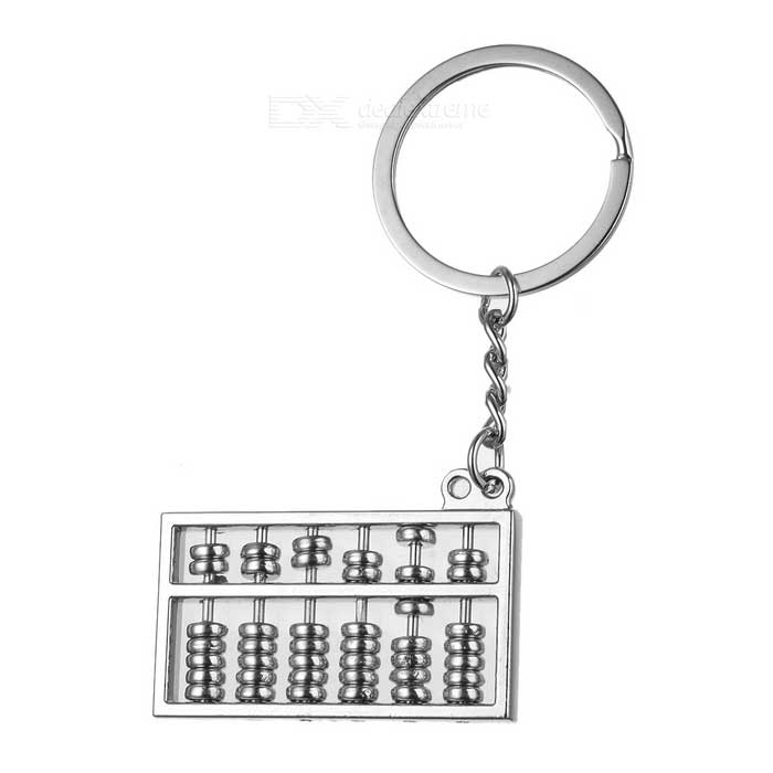 Zinc Alloy Mini Abacus Counting Frame Style Keychain - SilverKeychains<br>Form  ColorSilverMaterialZinc alloyQuantity1 DX.PCM.Model.AttributeModel.UnitPacking List1 x Keychain<br>