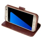 Protective PU + TPU Full Body Case for Samsung Galaxy S7 - Brown