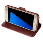 Protective PU + TPU Full Body Case for Samsung Galaxy S7 - Red