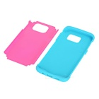 TPU+ Silicone Case for Samsung Galaxy S7 Edge - Blue+ Deep Pink